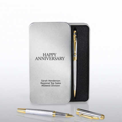 Silver and Gold Executive Pen Set